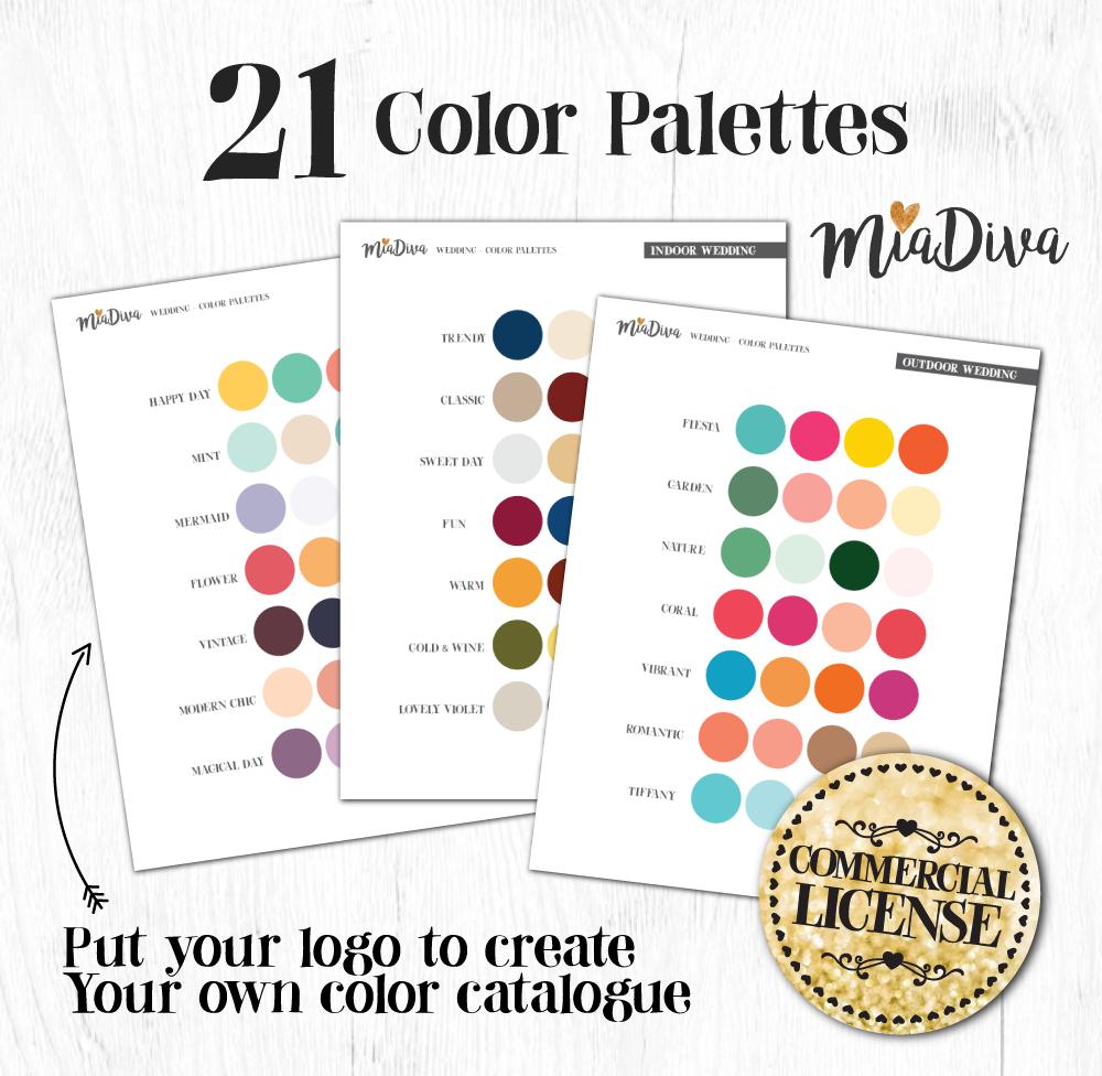 21 color palettes